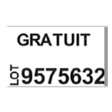 """Etiquette blanche pré-imprimé """"Gratuit"""" 26x16 mm  pour etiqueteuse sato judo promo"""