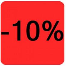 """Etiquettes 38x38 """"-10%"""""""