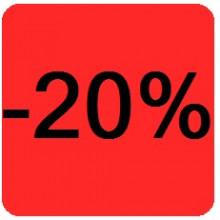 """Etiquettes 38x38 """"-20%"""""""