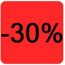 """Etiquettes 38x38 """"-30%"""""""